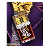 Wonka Bar Golden TIcket, Custom Phone Case for iPhone 4/4s, 5/5s, 6/6s, 6/6s+ and iPod Touch 5