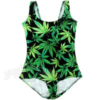 Pot Leaf Body Suit