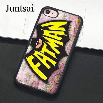 Batman Dark Knight gift Christmas Juntsai Fatman Batman Comic Hero For iPhone 6 6s Plus Case Phone Cover Soft TPU Back Case For iPhone X 6S 7 8 Plus 5 5s SE Coque AT_71_6