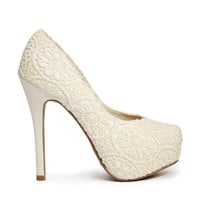 New Look Popper Platform Crochet Heeled Shoes