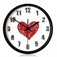 Creative Graffiti Love Wall Clock