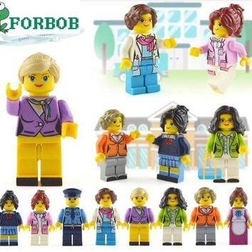 8pcs Compatible Legoing Duplo Friends Figures Set Hospital Doctor for girls 2018 New Legoing friends figurine figuren house girl