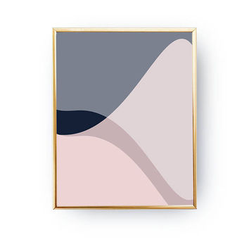 Simple Design, Minimal Poster, Textured Wall Art, Pink Purple Shapes, Geometric Painting, Pastel Decor, Geometric Shapes, Abstract Poster
