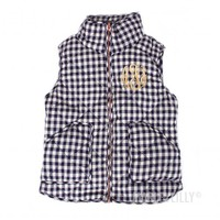 Monogrammed Gingham Quilted Vest | Marleylilly