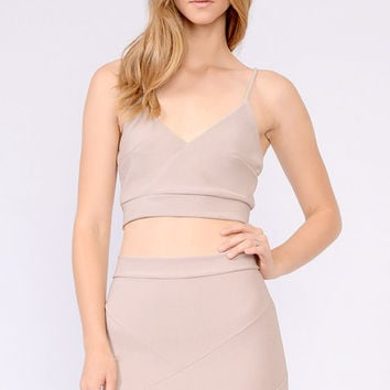 V Neck Crop top