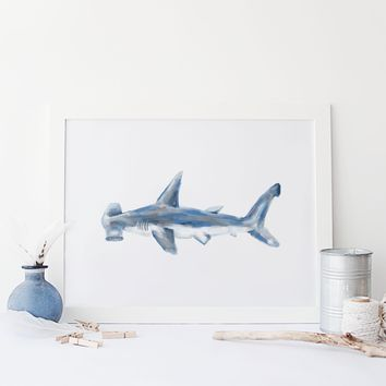 Hammerhead Shark Wall Art Print