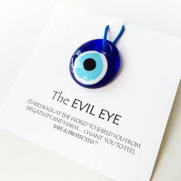 Personalized wedding favor, evil eye beads, unique wedding favors, glass evil eye beads with card, turkish evil eye bead, protection gift