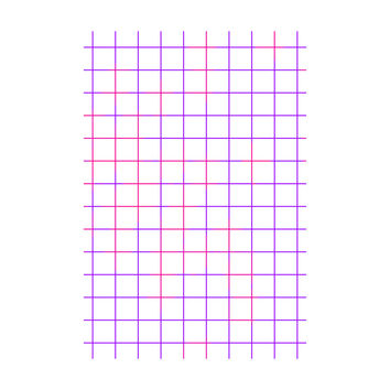 Purple Pink Grid Adhesive Art Print