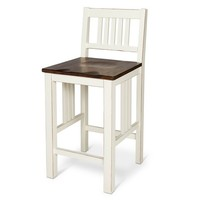 """Davern Cottage 24"""" Counter Stool Wood/Off White"""