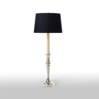 Ringed Pweter Candlestick Lamp design by Barbara Cosgrove