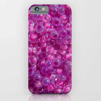 Pink Rocailles Seed Beads iPhone & iPod Case by Tigerlynx