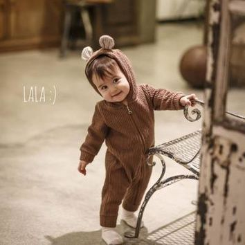 Bambi Onesuit Cozy Hooded Jumpsuit