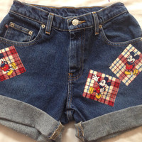 "25"" High Waisted Mickey Mouse Shorts"