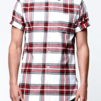On The Byas Tartan Baseball Woven Shirt - Mens Shirt - Red