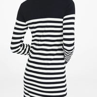 Black And White Striped Sweater Dress from EXPRESS