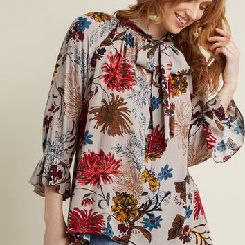 Look Out Billow Floral Top