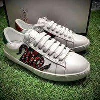 Gucci:Trending Fashion Casual Sports Shoes white Snake print H-CSXYQGCZDL-CY