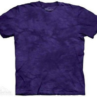 Deception Solid Color Purple Tie Dye T-Shirt