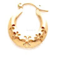 Flower Hoops Earrings 18Kts of Gold Plated
