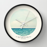 Salt Water Cure Wall Clock by Tina Crespo
