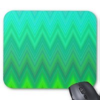 Green Zigzag Chevron Mouse Pad