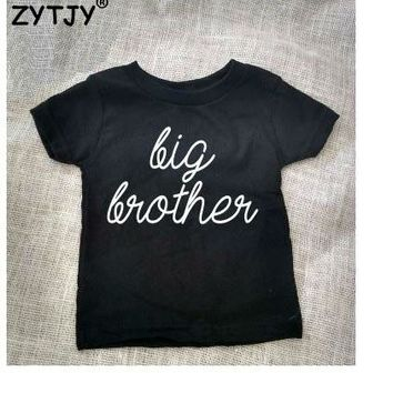 Big Brother Letters Print Kids t shirt Boy Girl shirt Casual Children Toddler Clothes Funny Top Tees Drop Ship Z-2