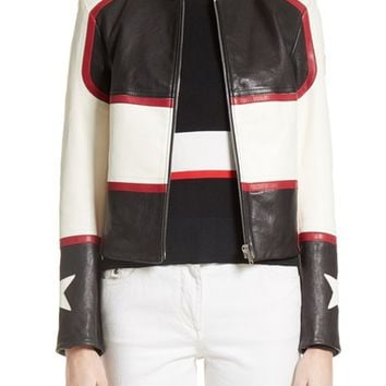 Belstaff Whitaker Stars Leather Moto Jacket | Nordstrom