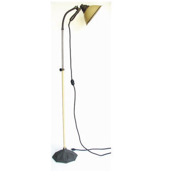 Vintage Zoalite Floor Lamp with Black Cast Iron Base by ThirdShift