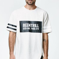 Been Trill ## Iceman Drop Tail T-Shirt - Mens Tee - White