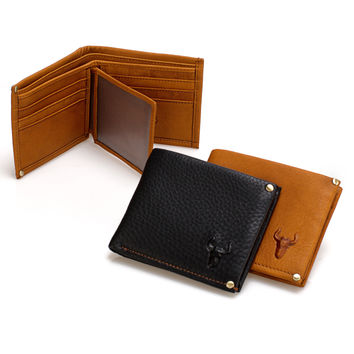 Men Casual Vintage Handcrafts Leather Wallet [9026277507]