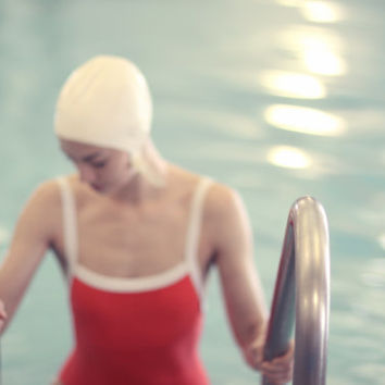 Fine Art Photography Figurative Swimming   MidCentury Swimming Pool Figurative Fine Art Photography