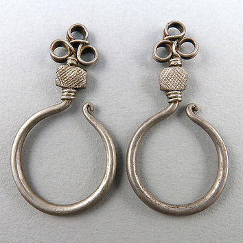 Vintage Chinese Earrings Silver Earrings Mia Homong Jewelry Ethnic Jewelry Asian Arts Vintage Jewelry