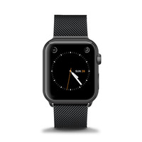 Stainless Steel Mesh Apple Watch Band - Space Black