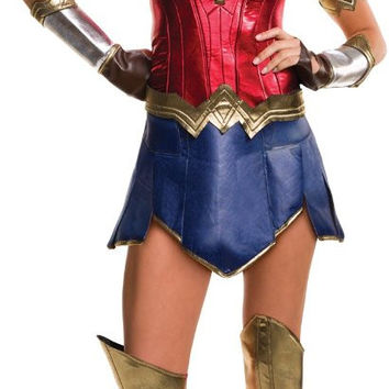 batman v superman: dawn of justice - deluxe wonder woman costume for women - small