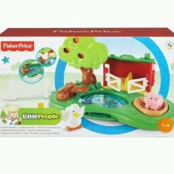 Fisher - Price little people pond pig play set boys & girls ages 1-4 New in box
