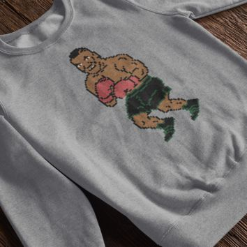 Retro Mike Tyson Punchout Inspired Crewneck Pullover Sweatshirt