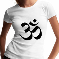 Ohm Yoga TV Womens T Shirts Black And White
