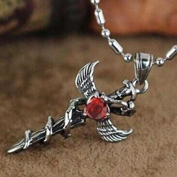 Shiny Gift New Arrival Jewelry Stylish Accessory Hot Sale Cross Rack Gemstone Crystal Men Ladies Gifts Necklace [6526583555]