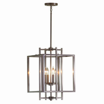 Shop allen + roth 14-in W Brushed Nickel Pendant Light with Shade at Lowes.com