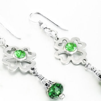 Four Leaf Clover Earrings - Irish Earrings