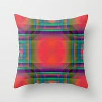 Clash Of Color Throw Pillow by Kathleen Sartoris