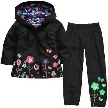 Kocotree Winter Girls Jacket Windbreaker Boys Jacket Kids Raincoat Trench Coat Children waterproof suit