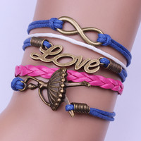 Beautiful Ballet Girl Woven Bracelet