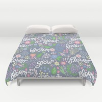 How Does Your Garden Grow Duvet Cover by Noonday Design   Society6