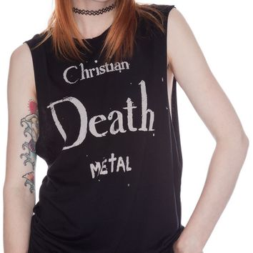 UNIF Christian Death Metal Muscle Tank | Dolls Kill