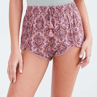 Ecote Dylan Printed Pink Dolphin Shorts - Urban Outfitters