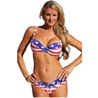 Stars and Stripes American Flag Bikini - 4th of July