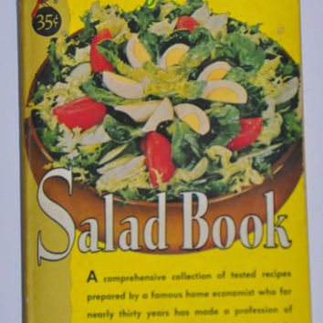 Vintage Salad Cookbook - Marye Dahnke's Salad Book. 1960 Recipes.  308 Pgs. Cardinal Edition C-129.