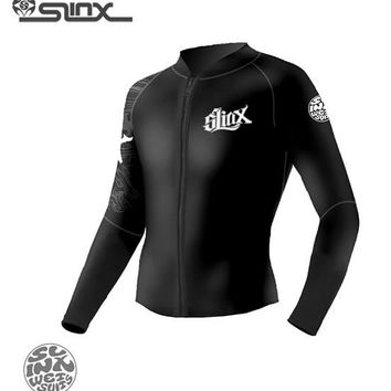 SLINX 1109 5mm Neoprene Men Women Scuba Diving Suit Boating Fleece Lining Warm Jacket Wetsuit Surfing Windsurfing Swimwear