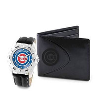 MLB Chicago Cubs Men's Watch and Wallet Gift Set